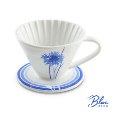 Blue Brew Bb1001 Ceramic Pour Over Coffee Dripper For 1 2 Cups Bb1001