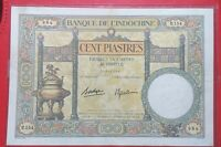 FRENCH INDOCHINA 100 Piastres 1925-1939 P51d