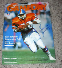 1990 DENVER BRONCOS PROGRAM WITH SHANNON SHARPS AUTOGRAPH ON THE COVER #81