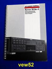 """REVOX B226-S """"BEDIENUNGSANLEITUNG"""" USER MANUAL MODE D'EMPLOI **TOP** (045)"""