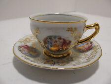 """Czech Thun Fine Porcelain Bernadotte """"Three Graces"""" Demitasse Cup & Saucer"""