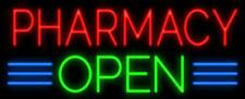"""Pharmacy Open 17""""x12"""" Neon Sign Lamp Light Beer With Dimmer"""