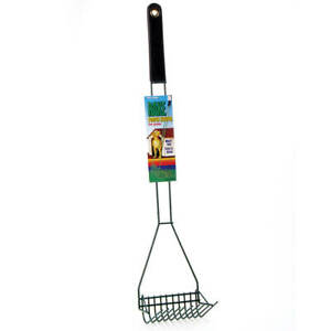 "FOUR PAWS 100203170 Black WIRE RAKE SCOOPER FOR GRASS BLACK 5"" X 6.13"" X 29.5"""