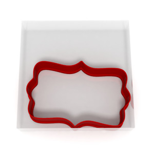 8CM Plaque Cookie Cutter Biscuit Dough Icing Shape Cake Sign Topping Fondant