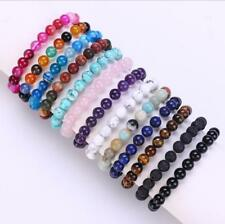 Wholesale Natural Gemstone Round Bead Bracelets Elastic Bangle 4mm 6mm 8mm 10mm