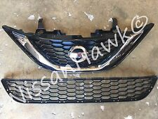 NEW OEM NISSAN SENTRA 2016-2018 FACTORY UPPER AND LOWER GRILLE ASSEMBLY &EMBLEM