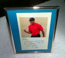 Tiger Woods signed 8x10 photo, framed