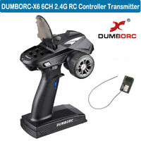 DumboRC X6 6CH Transmitter 2.4GWith X6F/X6F Gyro  Receiver For RC Car  US STOCK