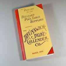 Reproduction of Rare 1904 BBC Billiard Price List/Catalog