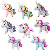 3D Foil Balloon Rainbow Unicorn Children Birthday Gift Ballon Party Decor New