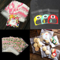 100 x Self Adhesive Cookie Candy Package Gift Bags Cellophane Party Birthday