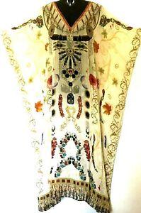 Kaftan/  Embellished/ HUGE SALE / Silky & Soft Viscose / Long / Plus / RR$149.95