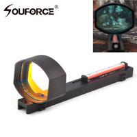 1x40 Optics Red Fiber Dot Sight Scope for Shotguns Rib Rail Base Mount Hunting