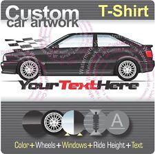Custom T-shirt for 90 91 92 93 94 95 96 B4 Audi S2 RS2 Coupe Avant 2.2 Turbo Fan