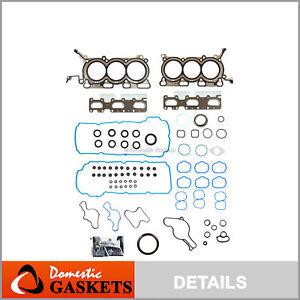 Full Gasket Set Fits 09-10 Mazda 6 CX-9 Lincoln MKT MKS 3.7L DOHC V6 24V