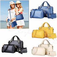 3Pcs Women Handbag Shoulder Bag Tote Purse Leather Ladies Messenger Hobo Bag Kit