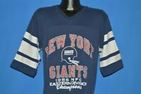 vintage 80s NEW YORK GIANTS 1986 NFC EAST CHAMPS LOGO 7 t-shirt FOOTBALL LARGE L