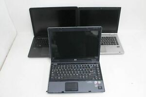 HP Bundle Of Laptops Compaq 6510b Elitebook 8460p Spares And Repairs FAULTY