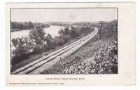 1906 CEDAR RAPIDS IA RIVER RAILROAD PANORAMIC VINTAGE POSTCARD IOWA TIPTON OLD