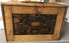 Neslein Wooden Engineers Toolbox & Tools / Cabinet / Collectors Chest Antique