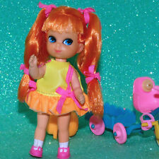 Mattel Liddle Kiddle Skediddle TRACY TRIKEDIDDLE tricycle Pusher wagon Doll lot