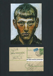 Otto Dix painter authentic Autograph handwritten & signed postcard rarely found