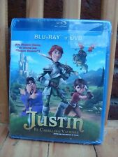 JUSTIN EL CABALLERO VALIENTE JUSTIN AND THE KNIGHTS OF VALOR BLU-RAY+DVD