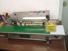DINGYE USA STOCKED STAINLESS STEEL CONTINUOUS HORIZONTAL BAND SEALER & EMBOSSER