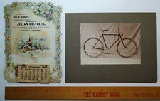RARE -  1902  Julian Bicycle Co - Calendar & Advertising Photo - Wellsville NY