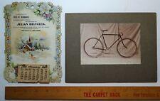 RARE -  1902  Julian Bicycle Co - Calendar & Advertising Photo - Wellsville NY