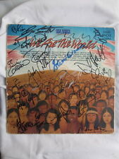 """WE ARE THE WORLD signed 12"""" USA for AFRICA unique AUTOGRAPH signiert AUTOGRAMM"""