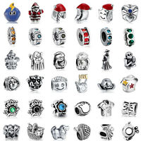925 European Sterling Cz Silver Charm Bead for Charms Bracelet Necklace CA25