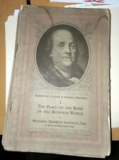 Benjamin Franklin Institute Elementary Course in Banking 20 volumes