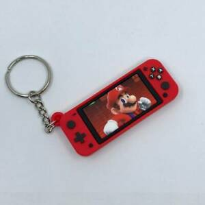 Mario Red Game Console Keychain Retro Brand New Key Chain Ring Keyring Nintendo