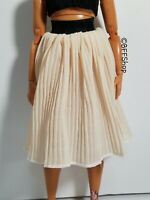 NEW! BEIGE PLEATED SKIRT BARBIE FASHIONISTAS FASHION CLOTHES CLOTHING CURVY