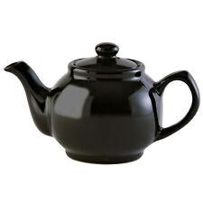 Price & Kensington Large Gloss Black Porcelain Tea Coffee 6 Cup Teapot Serving