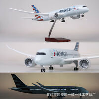 43cm 1/130 American Airlines LED Light Airplane B787 Airforce Model