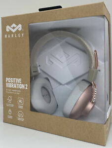 House of Marley Positive Vibration 2 On-Ear Wired Headphones Pink BRAND NEW