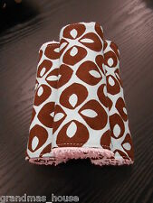 Choc Mint Burp Cloths Set of 3 Towelling Backed GREAT GIFT IDEA!!