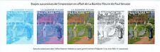 ETAPES DE L' IMPRESSION EN HELIOGRAVURE DU TIMBRE DE PAUL SERUSIER N° 4105