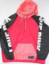 Victoria's Secret PINK Quarter Zip Anorak Hoodie Windbreaker Size XS/S Neon Red