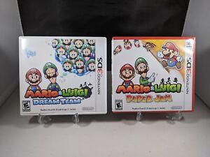Mario & Luigi Dream team + Paper Jam 2 Games Lot Nintendo 3DS 1st Print