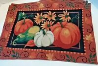 Thanksgiving Pumpkin Fall Tapestry Placemats 19 inches x 13 inches Set of Four