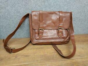 Fat Face Dark Brown Leather Shoulder Bag