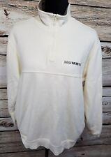 Izod Hummer Mens Size Medium 1/4 Zip Pullover Sweatshirt White Embroidered Shirt