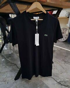 Lacoste Men's T-Shirt V-Neck Classic Premium Cotton Athletic Sport Tshirt