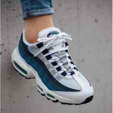 NIKE AIR MAX 95 OG TRAINERS UK 8 EUR 42.5 WHITE EMERALD SLATE BLUE 1 90 97 BW TN