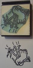 Bagpipes Rubber Stamp by Amazing Arts Music