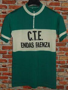 Shirt Bike Shirt Maillot Cycling Heroic Vintage 70'S Faenza 50% Wool