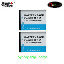 BP70A /BP-70A/SLB/SLB70A Battery for Samsung AQ100/ES30/ES65/ES70/ES73/ES75/ES80